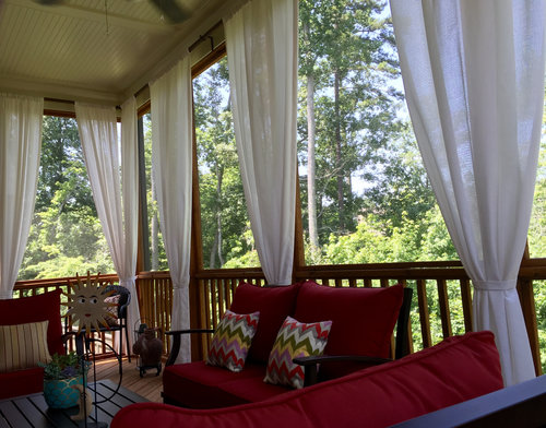 curtains on porch