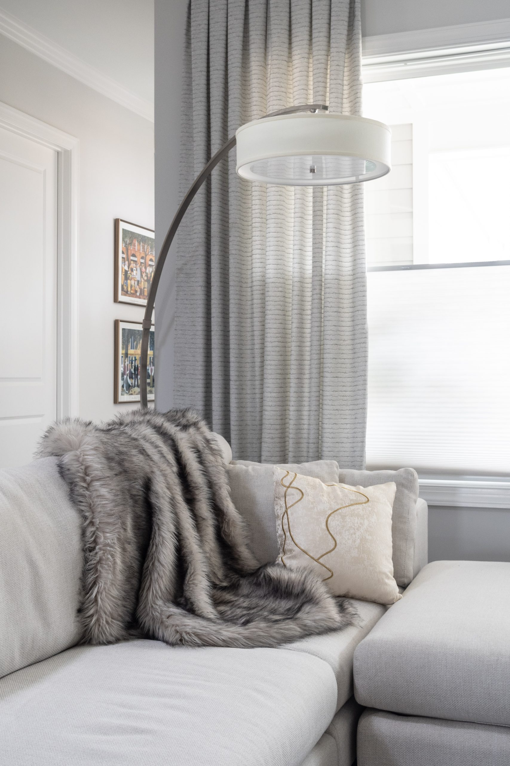 curtains in gray room